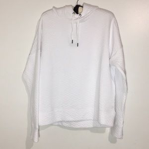 White Pullover hoodie size Large